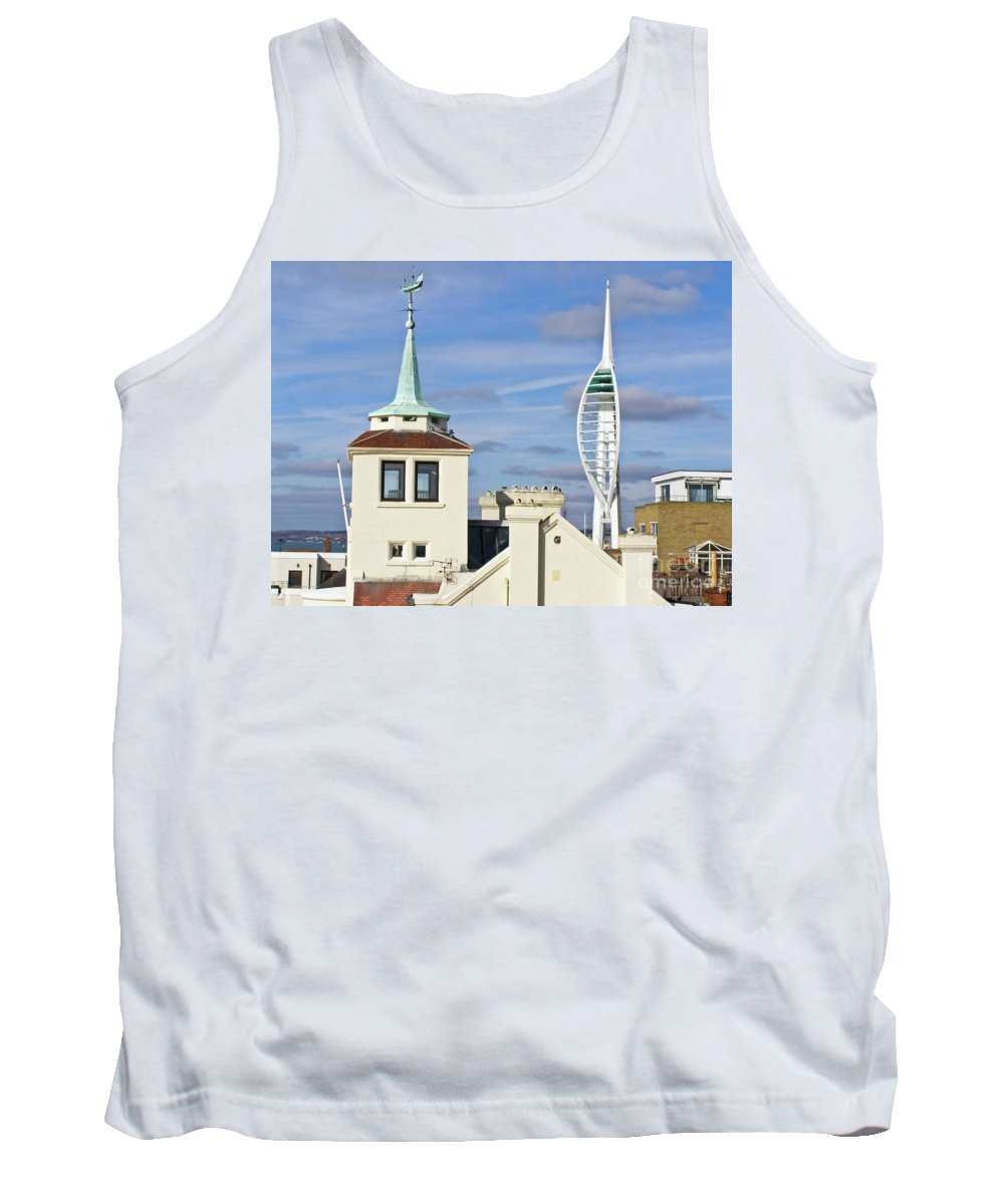 Portsmouth Spinaker Tower Tank Top featuring the photograph Old Portsmouth's Towers by Terri Waters