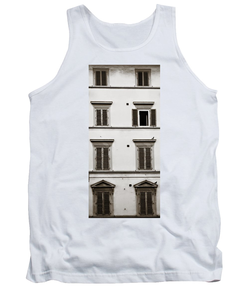 Shutters Tank Top featuring the photograph Old Shutters by Marilyn Hunt