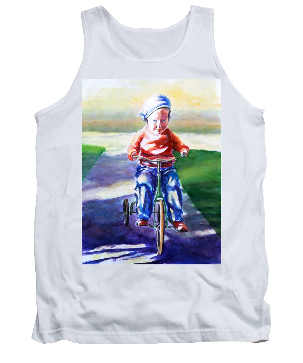 Girl Tank Top featuring the painting Old Soul by Shannon Grissom
