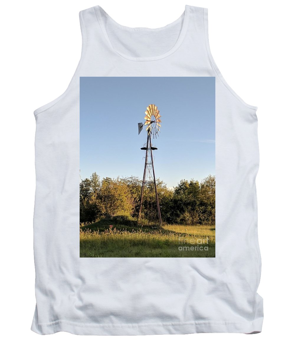 Windmill Tank Top featuring the photograph Old Southern Windmill by Braylenn VanOsdol