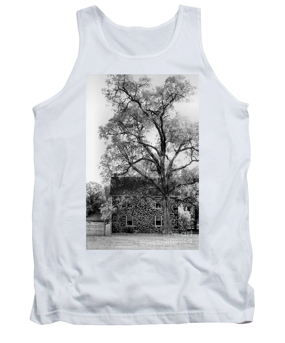 Homes Tank Top featuring the photograph Old Stone House by Richard Rizzo