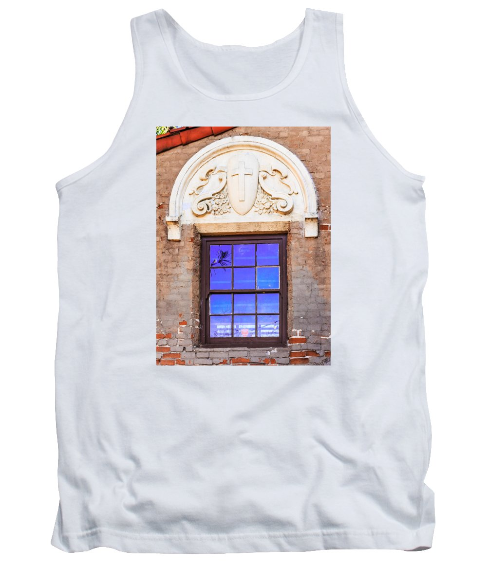 Photographs Tank Top featuring the photograph Old Window Mission San Buenaventura by Danny Goen