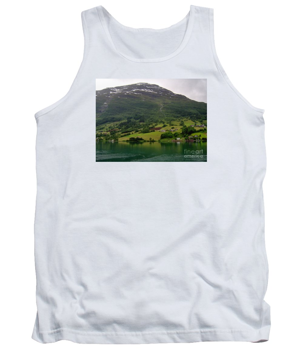 Olden Fjord Tank Top featuring the photograph Olden Fjord, Norway by Quintin Rayer