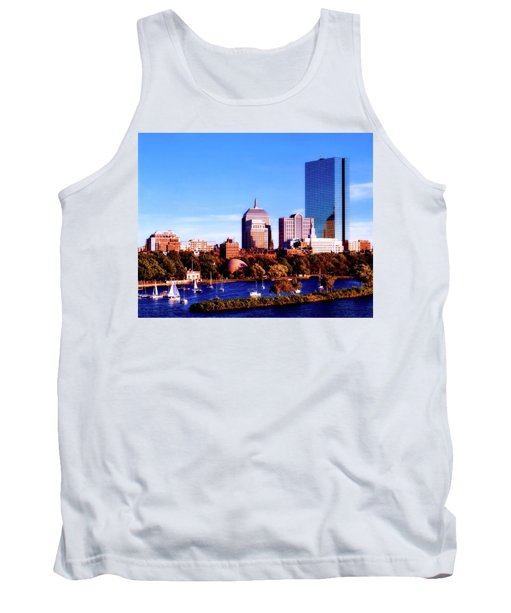 St. Charles Tank Top featuring the photograph On The Charles by Mountain Dreams