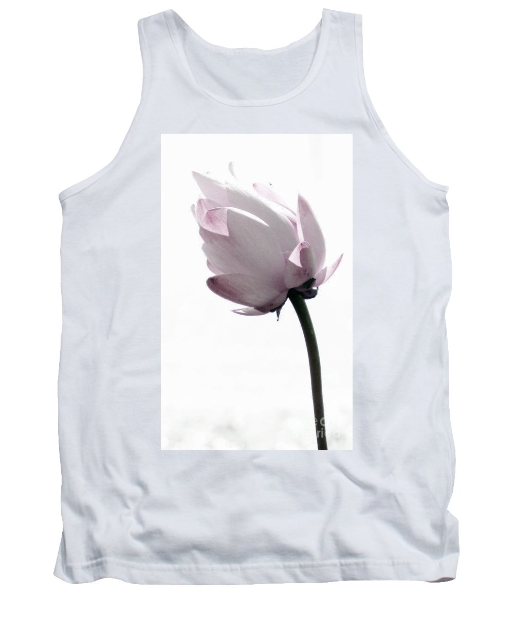 Lotus Tank Top featuring the photograph On The Inside by Amanda Barcon