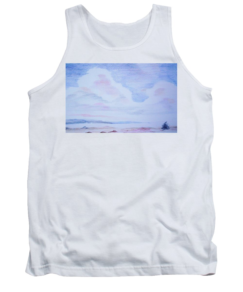 Landscape Painting Tank Top featuring the painting On The Way by Suzanne Udell Levinger
