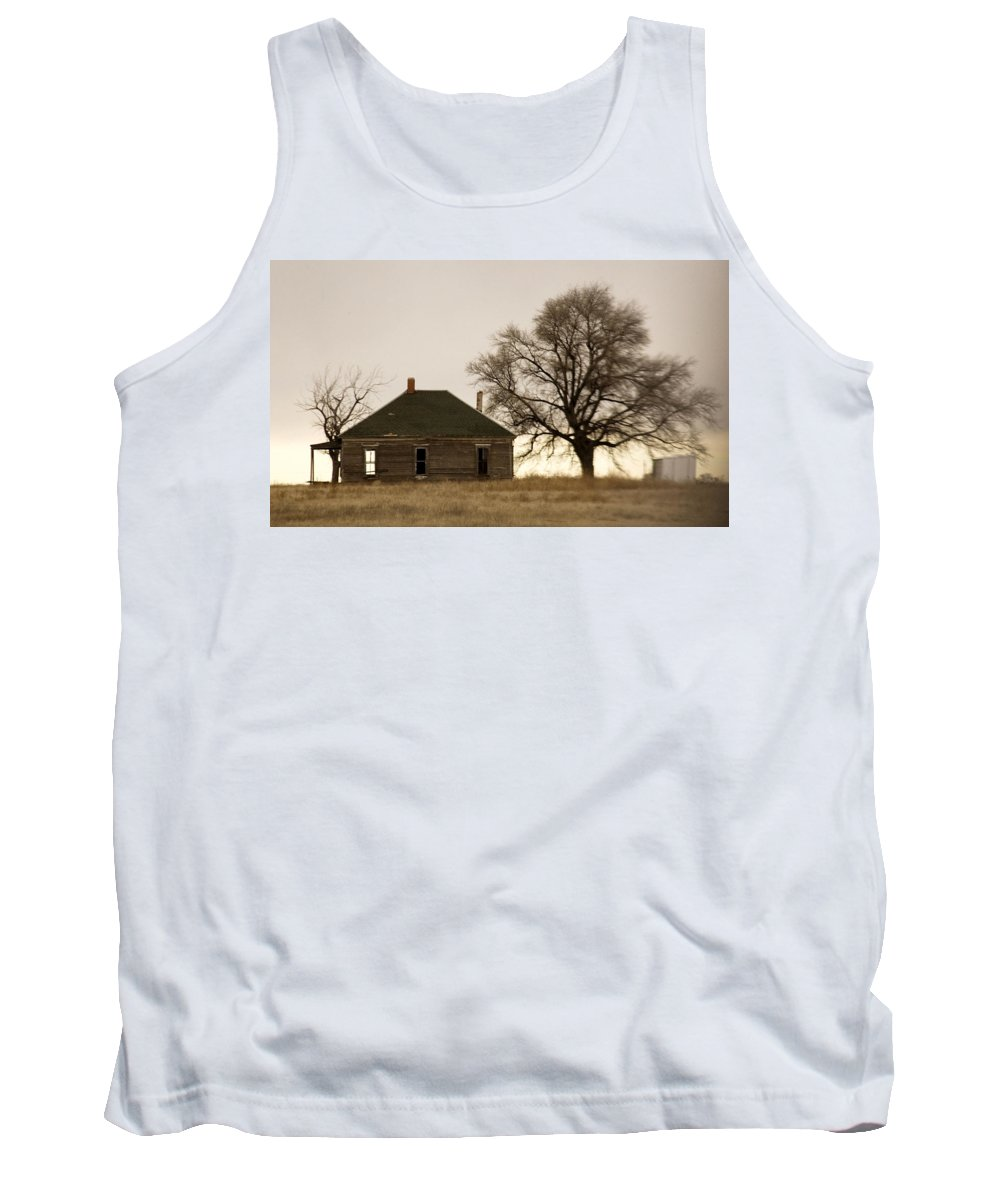 Americana Tank Top featuring the photograph Once Upon A Time In West Texas by Marilyn Hunt