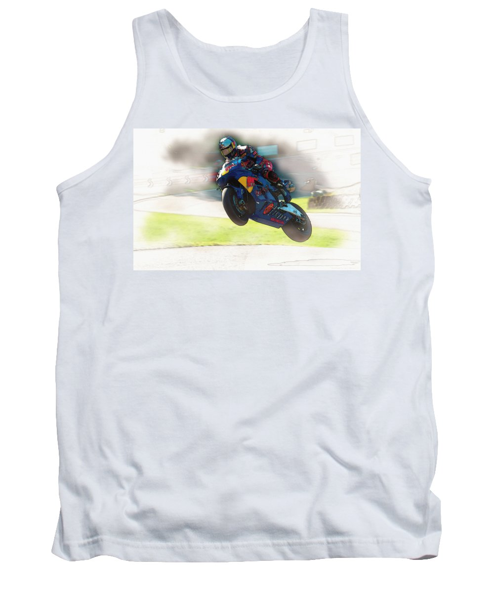 Spanish Tank Top featuring the digital art One For The Dance Card by Don Kuing
