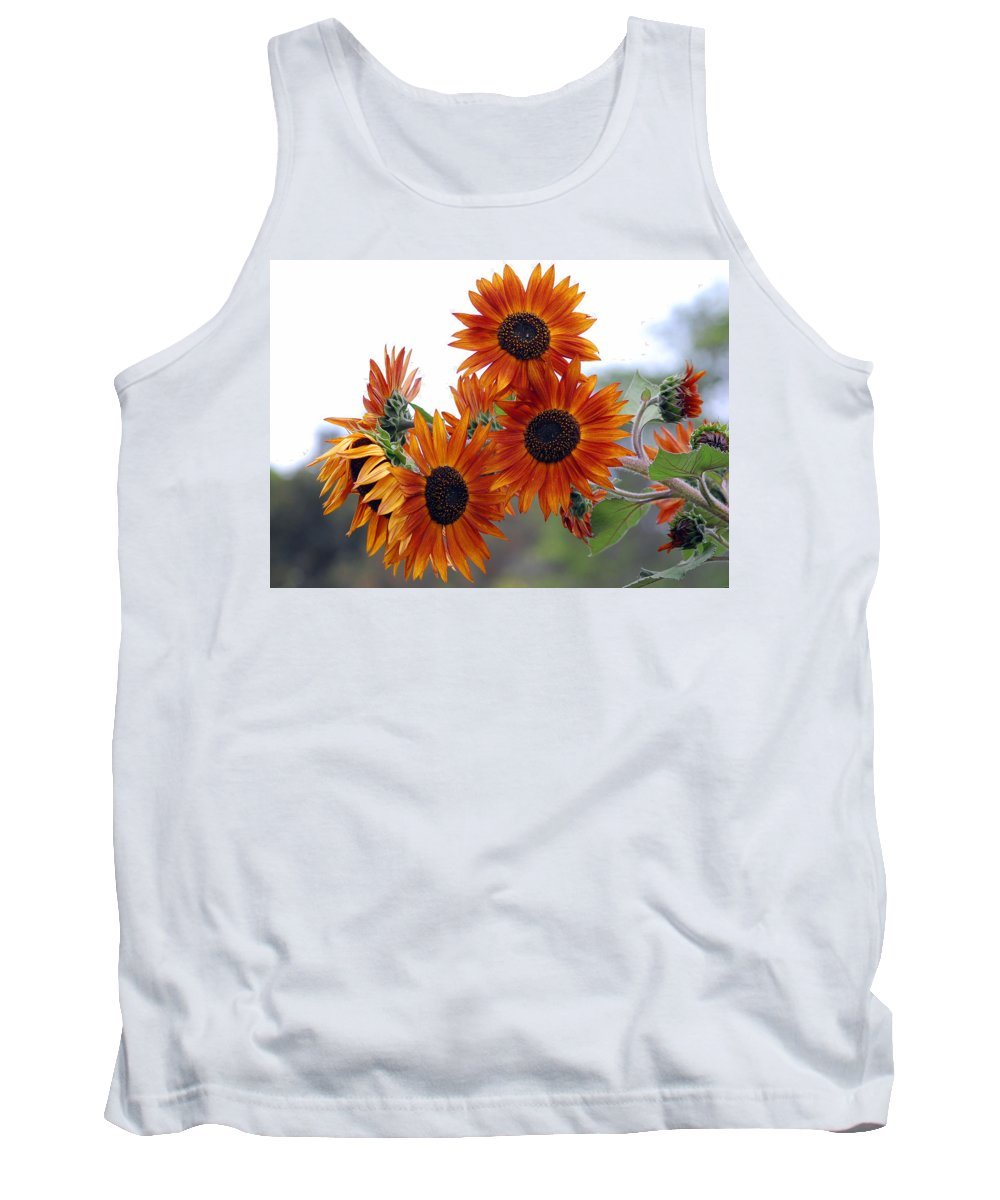 Sunflower Tank Top featuring the photograph Orange Sunflower 1 by Amy Fose