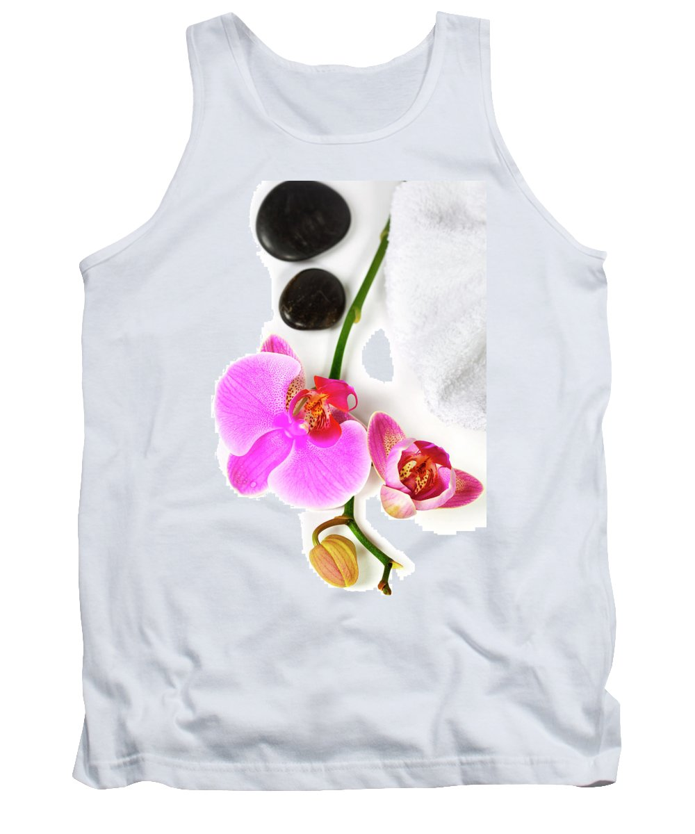 Asia Tank Top featuring the photograph Orchid Spa Composition by Natalia Klenova