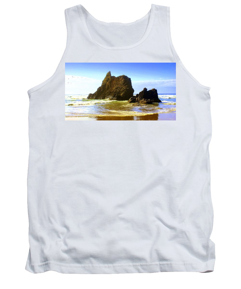 Ocean Tank Top featuring the photograph Oregon Coast 16 by Marty Koch