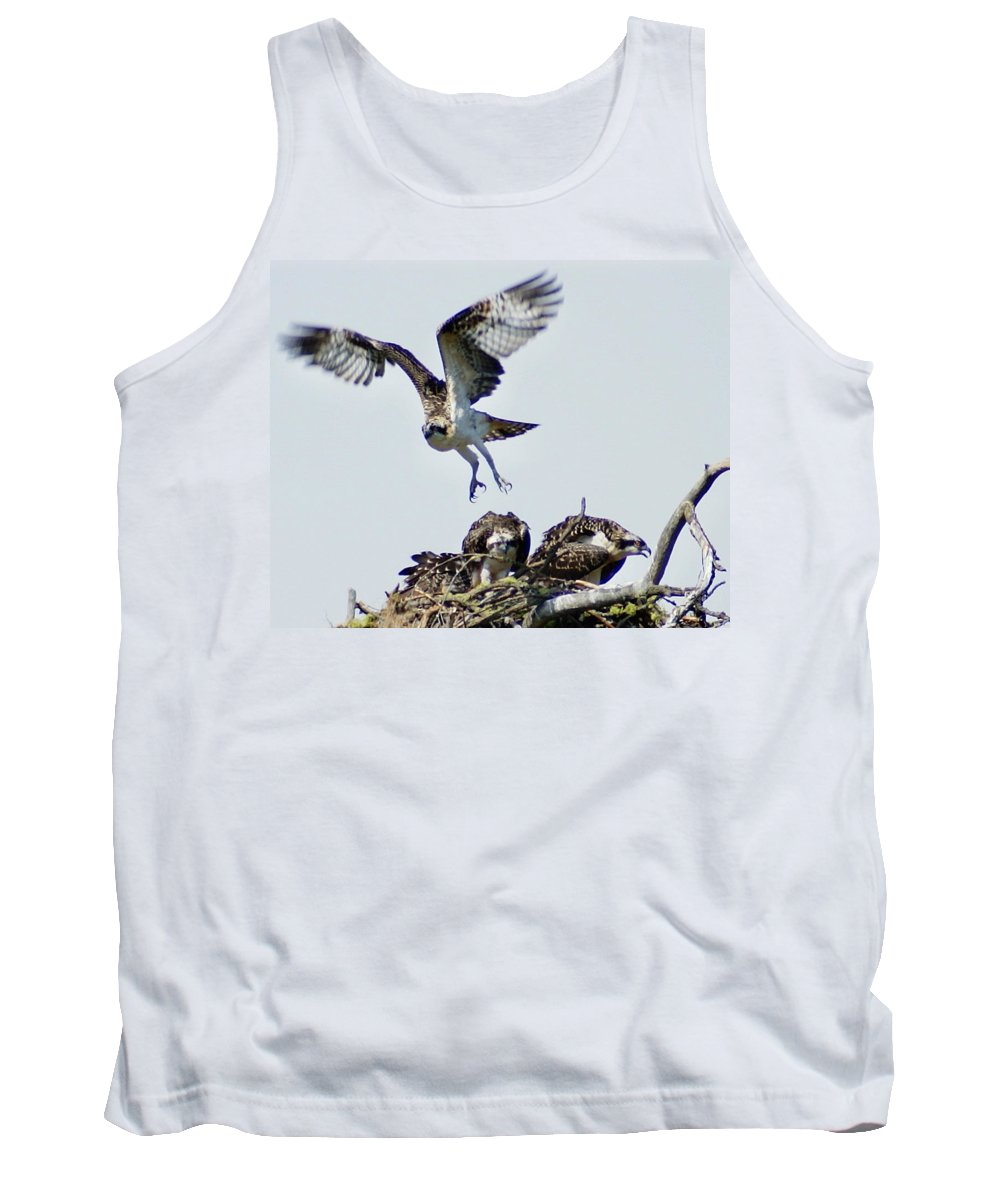 Spokane Tank Top featuring the photograph Osprey Nest by Ben Upham III