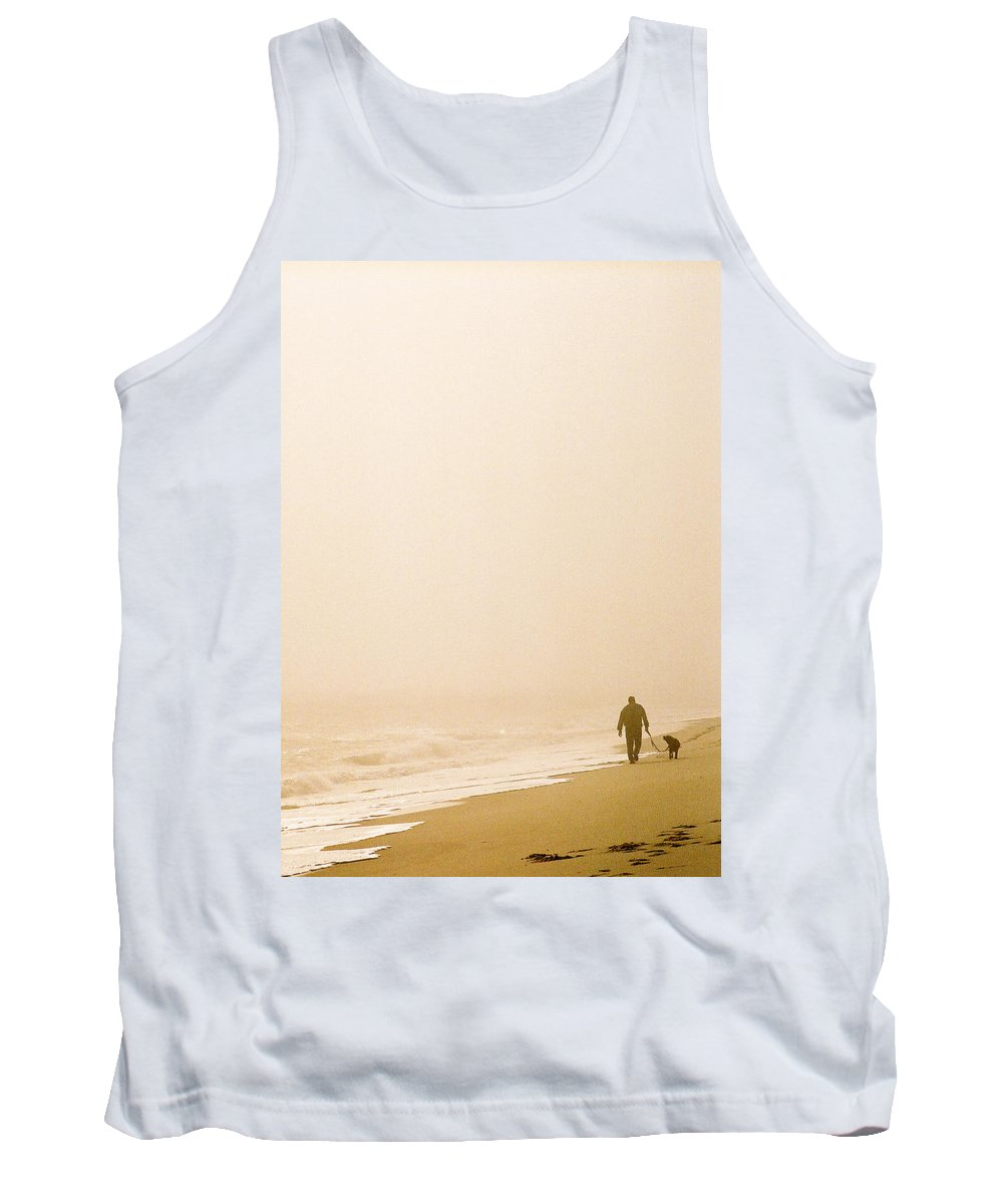 Landscape Tank Top featuring the photograph Out Of The Mist by Steve Karol