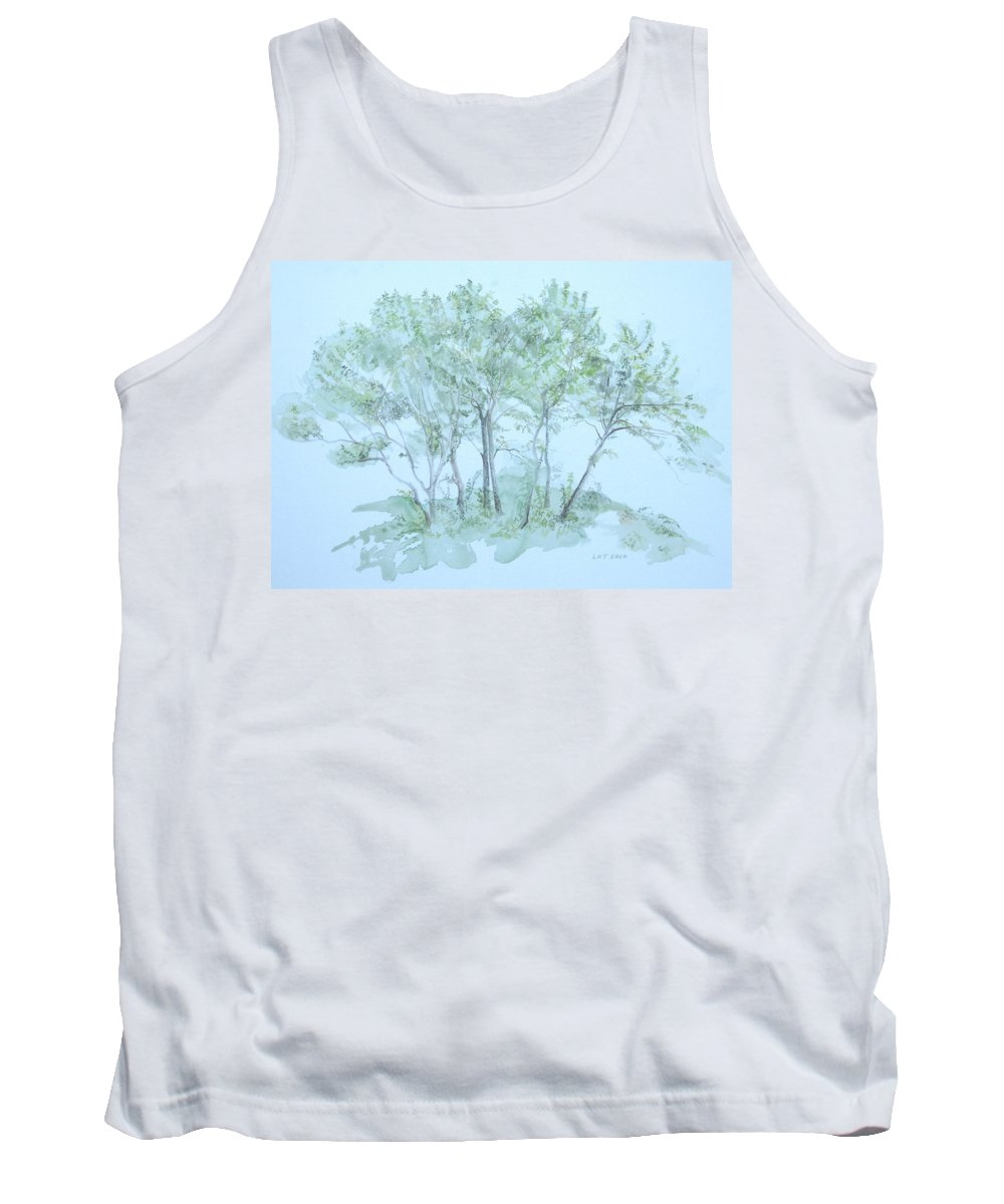 Trees Tank Top featuring the painting Outer Banks by Leah Tomaino