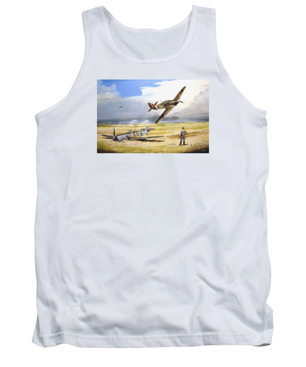 Painting Tank Top featuring the painting Outgunned by Marc Stewart
