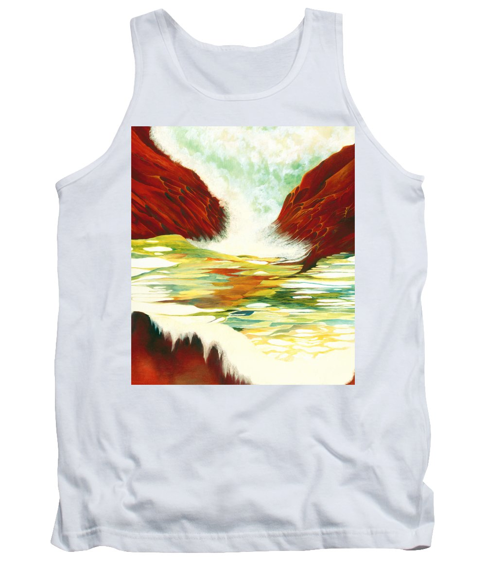 Oil Tank Top featuring the painting Overflowing by Peggy Guichu