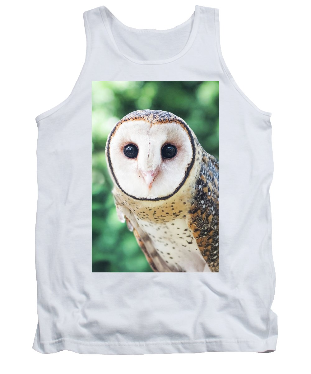 Owl Tank Top featuring the photograph Owl Insight by Jodie Nash