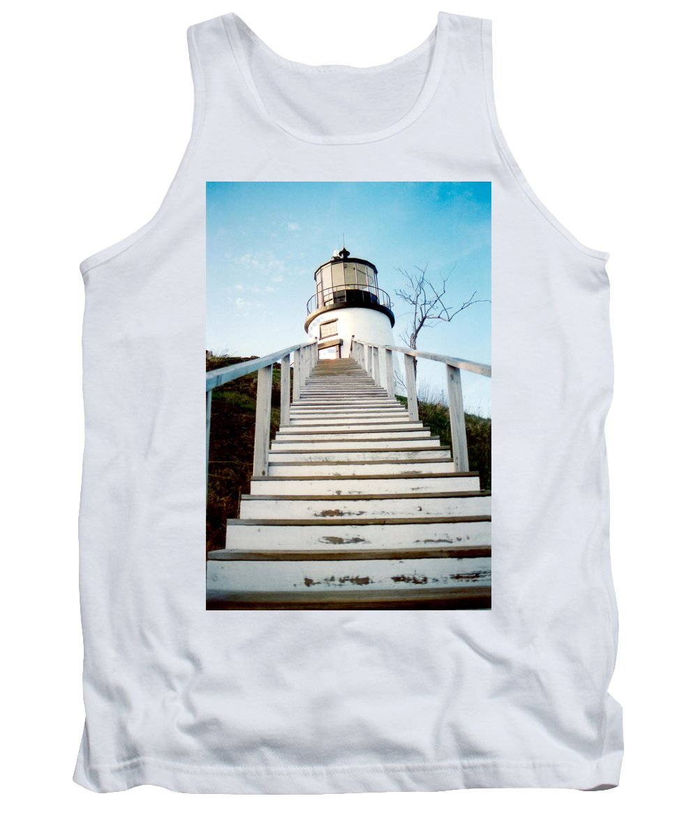 Lighthouse Tank Top featuring the photograph Owl's Head Light by Greg Fortier