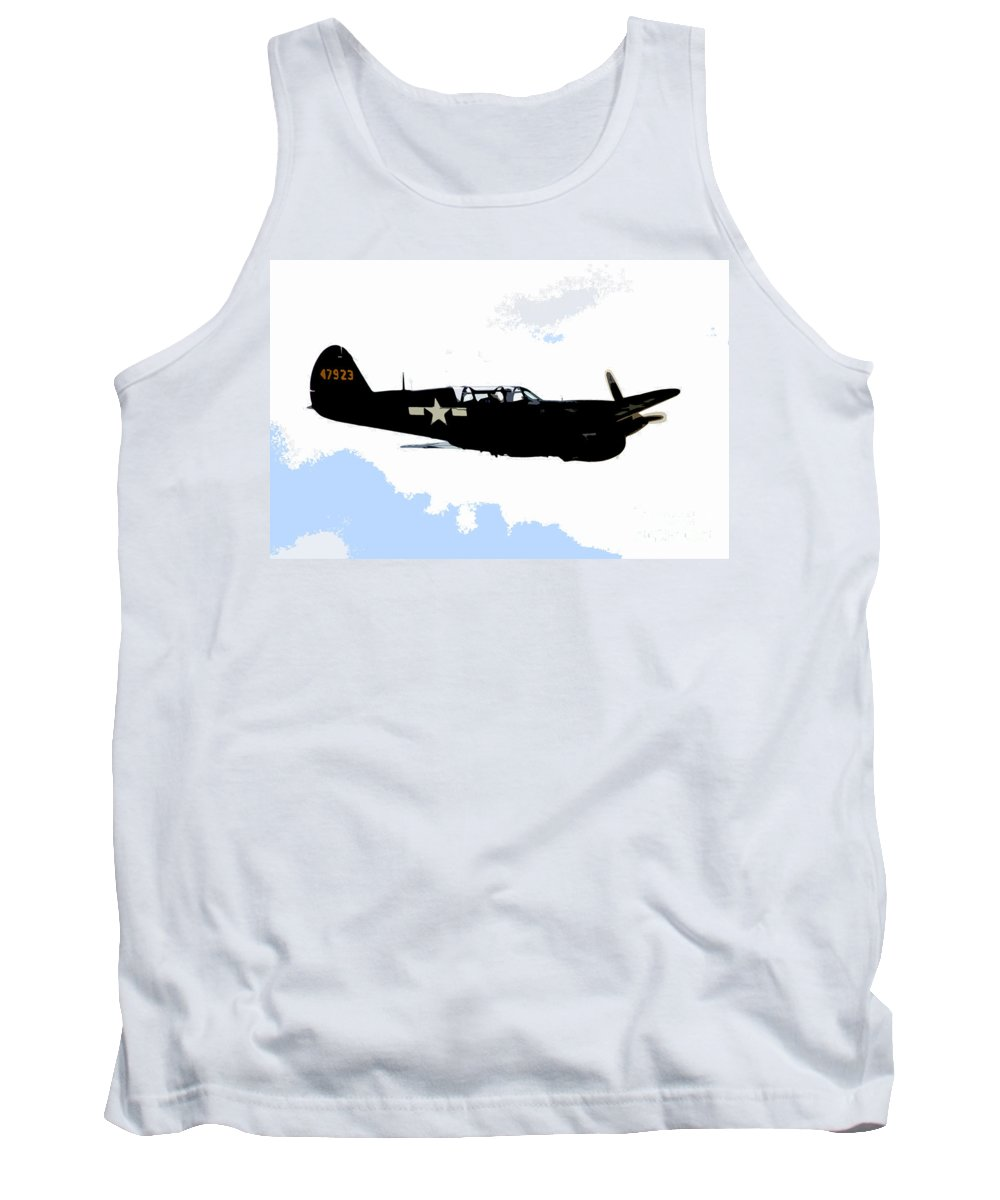 P 40 Tank Top featuring the painting P 40 by David Lee Thompson