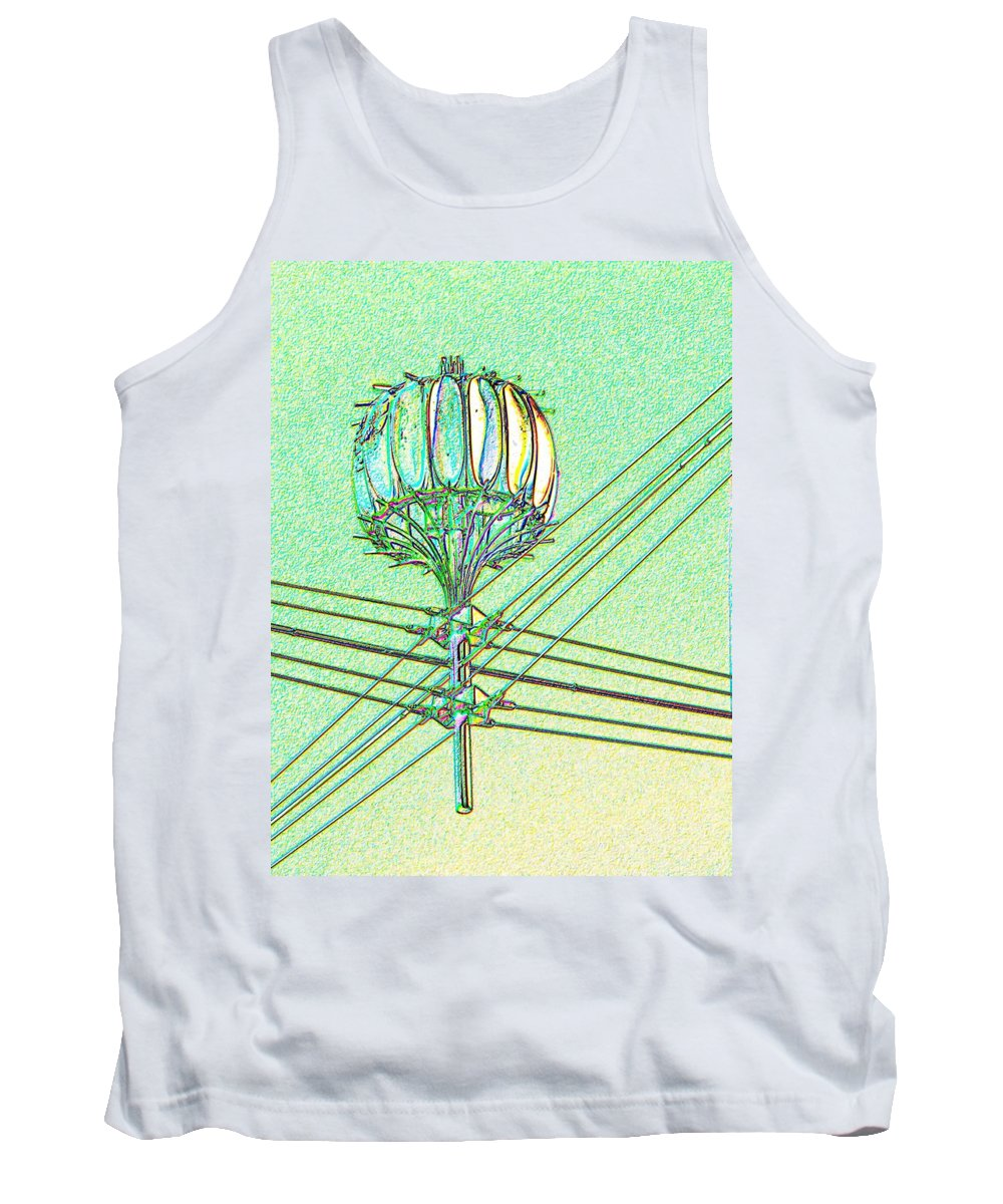 Seattle Tank Top featuring the digital art Pacific Science Center Lamp by Tim Allen