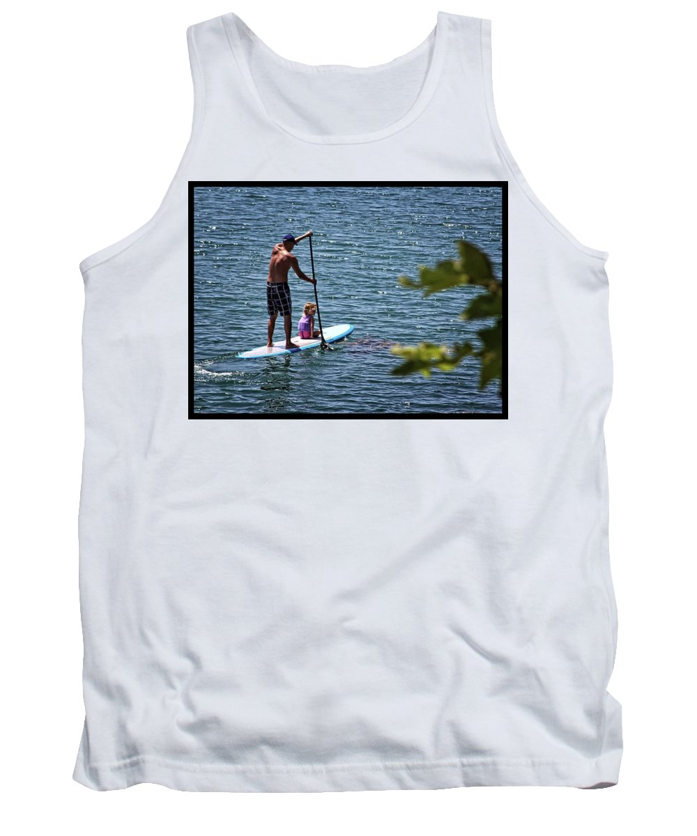 Paddle Board Tank Top featuring the photograph Paddle Board by Roger Skougard