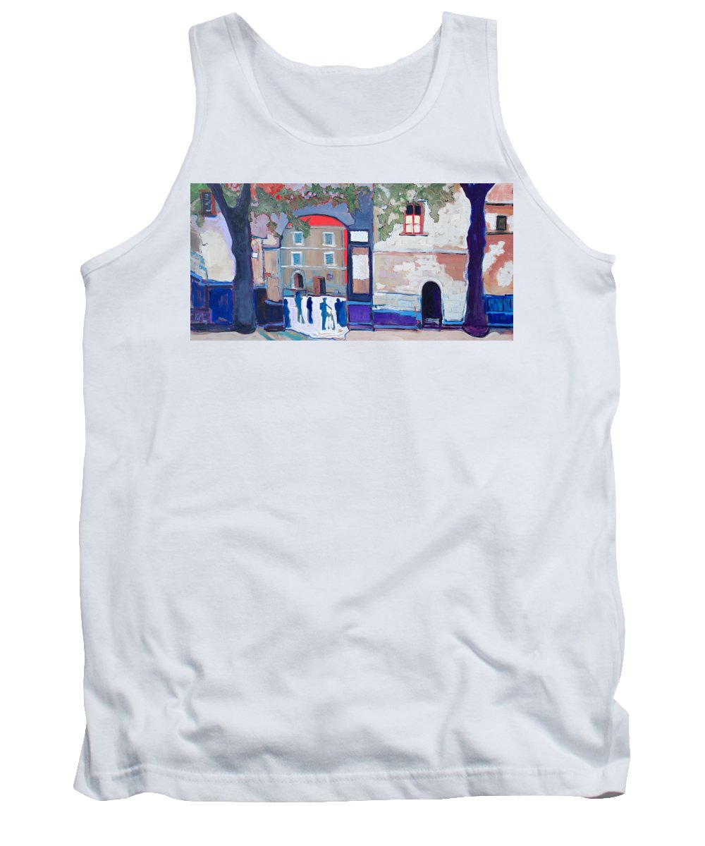 Village Tank Top featuring the painting Palazzo Di Villafranca by Kurt Hausmann