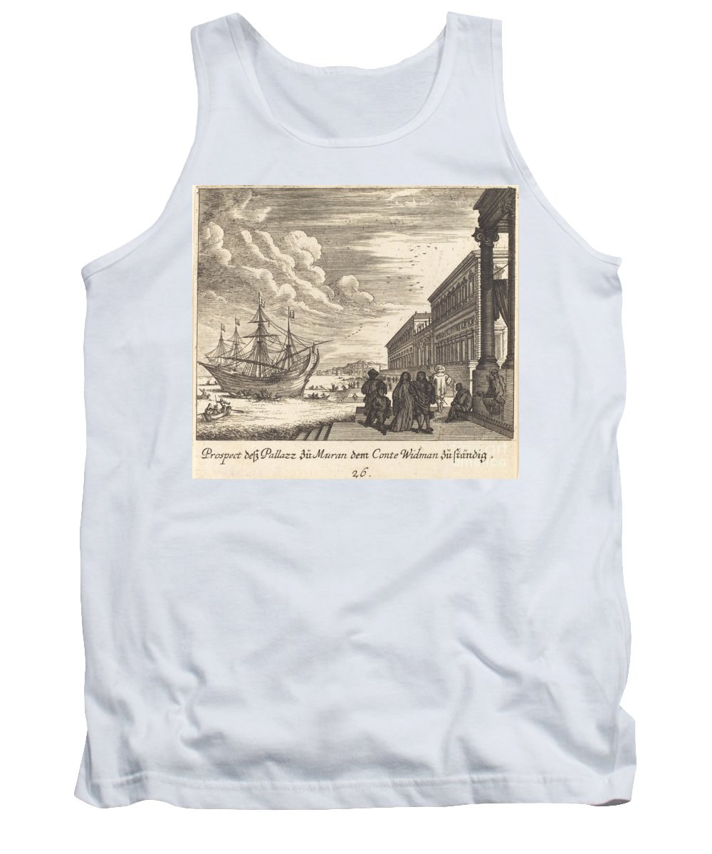 Tank Top featuring the drawing Palazzo Of Count Widman by Melchior K?sel After Johann Wilhelm Baur