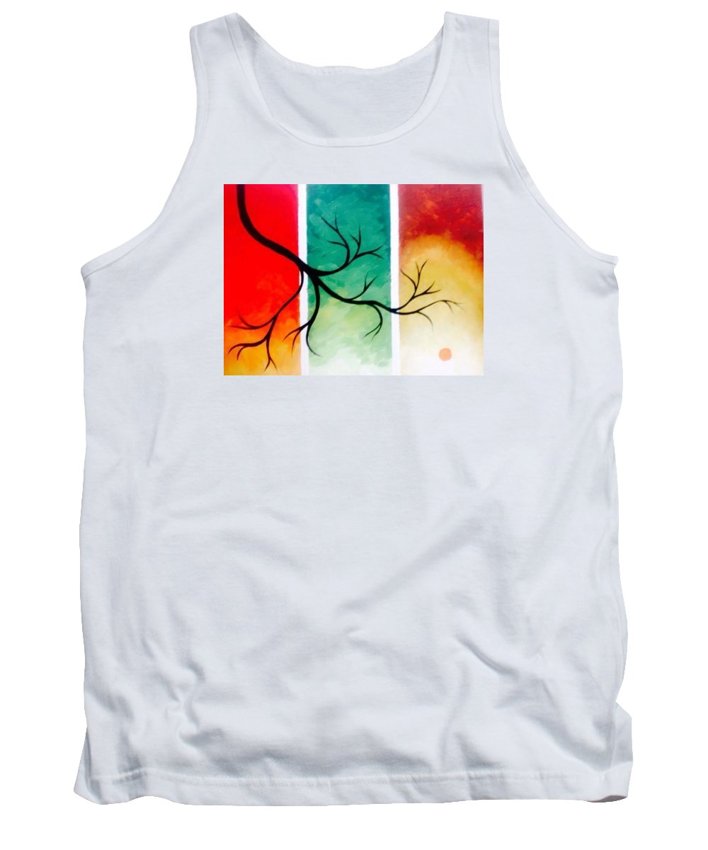 Landscape Tank Top featuring the painting Panel Painting by Niharika Arora