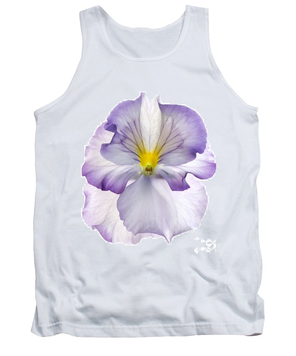 Pansy Genus Viola Tank Top featuring the photograph Pansy by Tony Cordoza