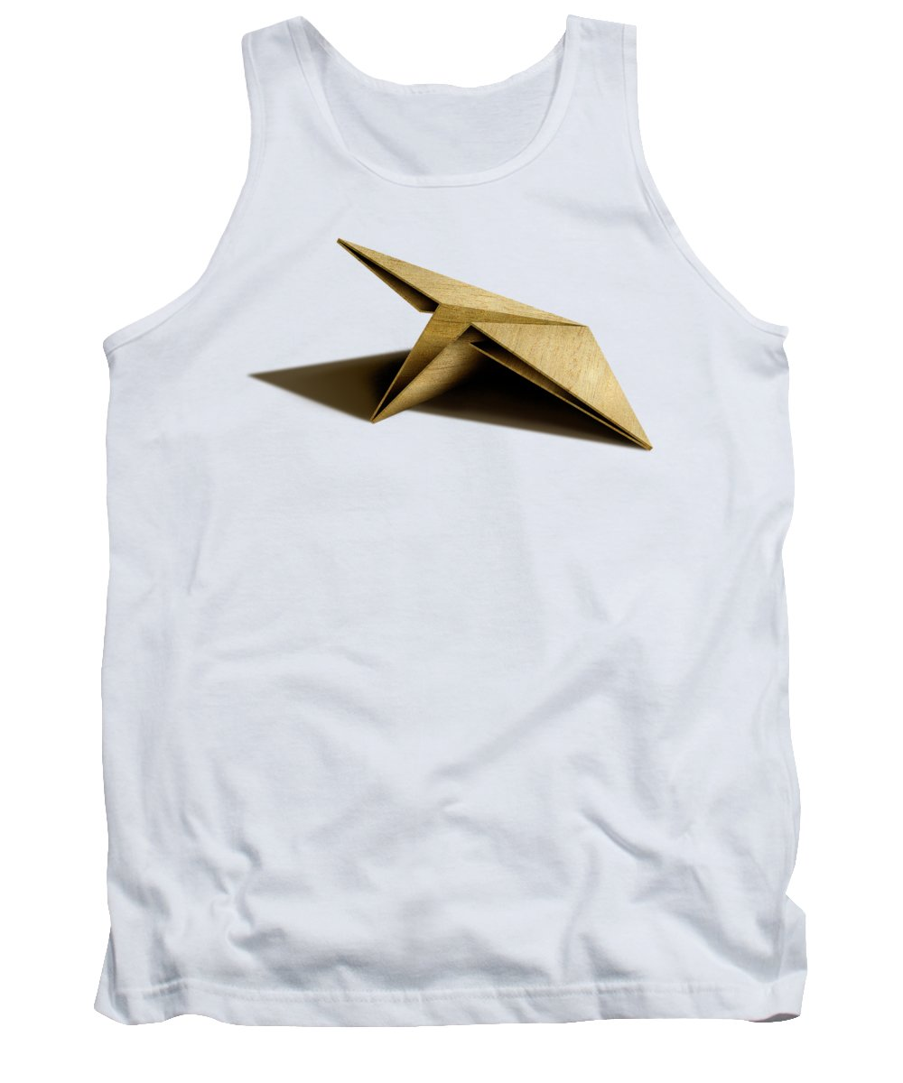 Paper Airplane Tank Top featuring the photograph Paper Airplanes Of Wood 7 by YoPedro