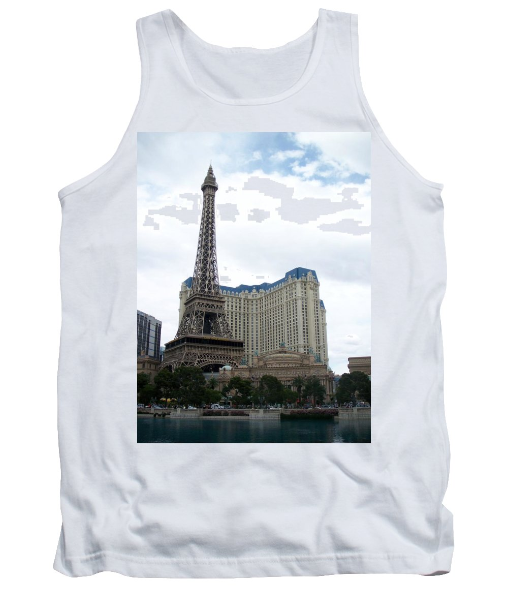 Bellagio Tank Top featuring the photograph Paris Hotel by Anita Burgermeister