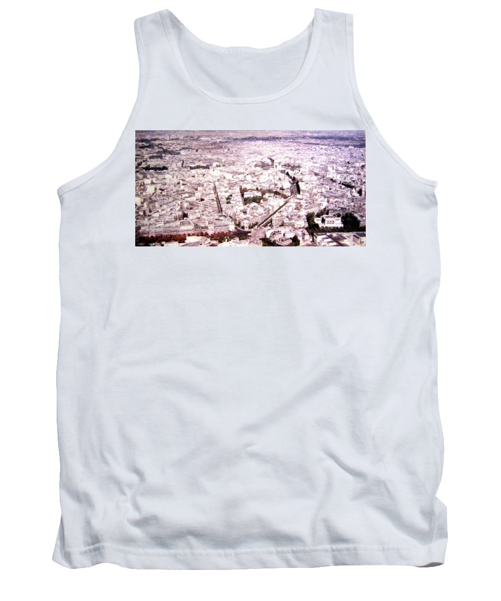 1955 Tank Top featuring the photograph Paris Panorama 1955 by Will Borden
