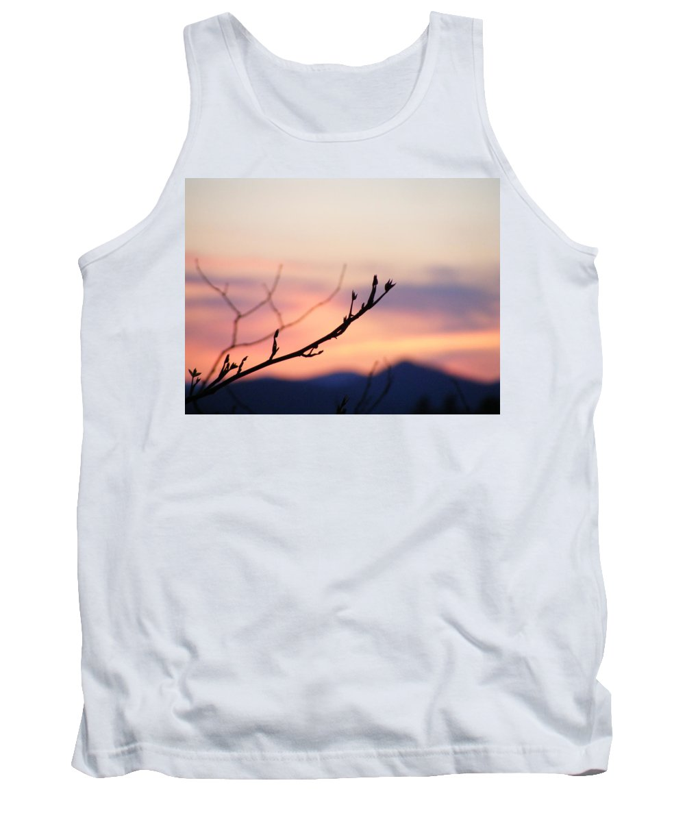 Mountains Tank Top featuring the photograph Pastel Twig by Zen WildKitty