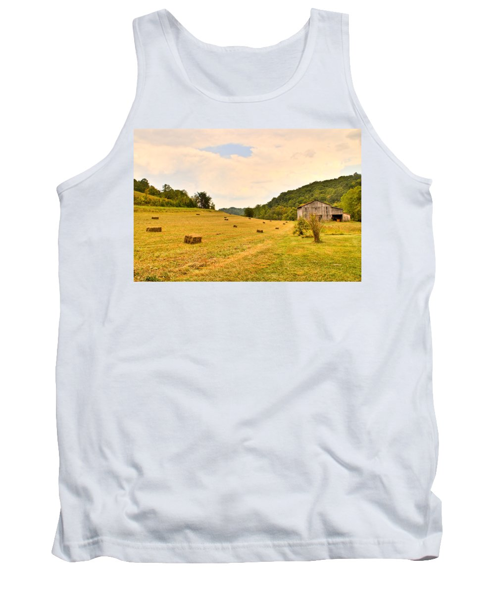 Pastorial Tank Top featuring the photograph Pastorial Framland In Kentucky by Douglas Barnett