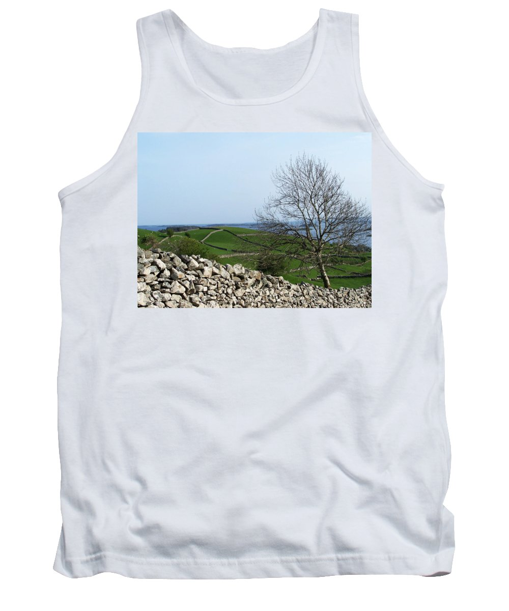 Irish Tank Top featuring the photograph Patchwork Quilt Lough Corrib Maam Ireland by Teresa Mucha