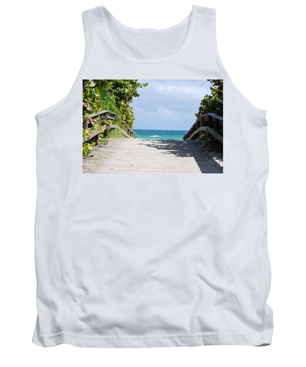 Sea Scape Tank Top featuring the photograph Path To Paradise by Rob Hans