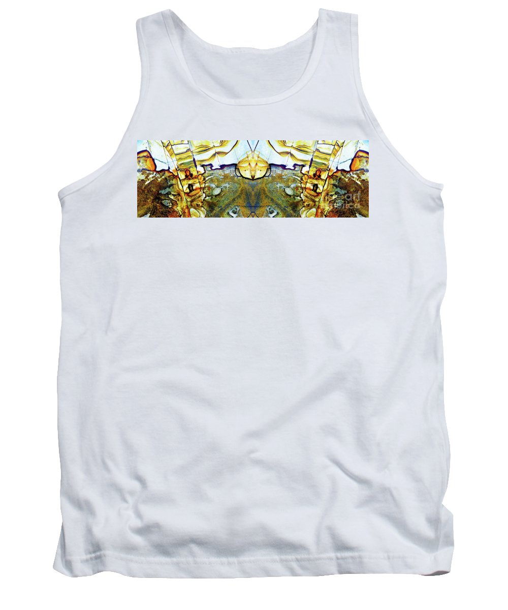 Abstract Tank Top featuring the photograph Patterns In Stone - 157 by Paul W Faust - Impressions of Light