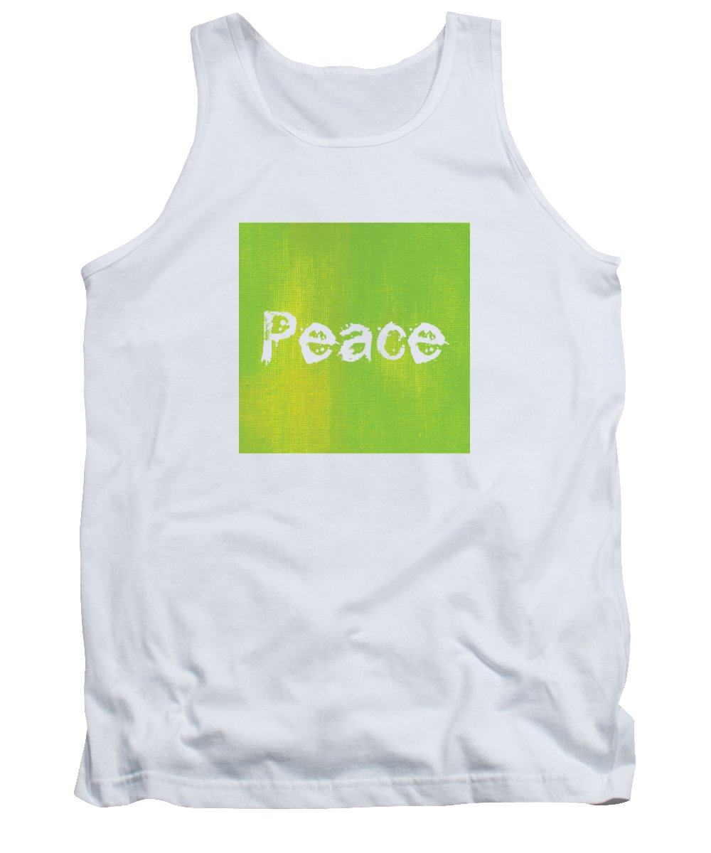 Love Tank Top featuring the mixed media Peace by Kathleen Wong