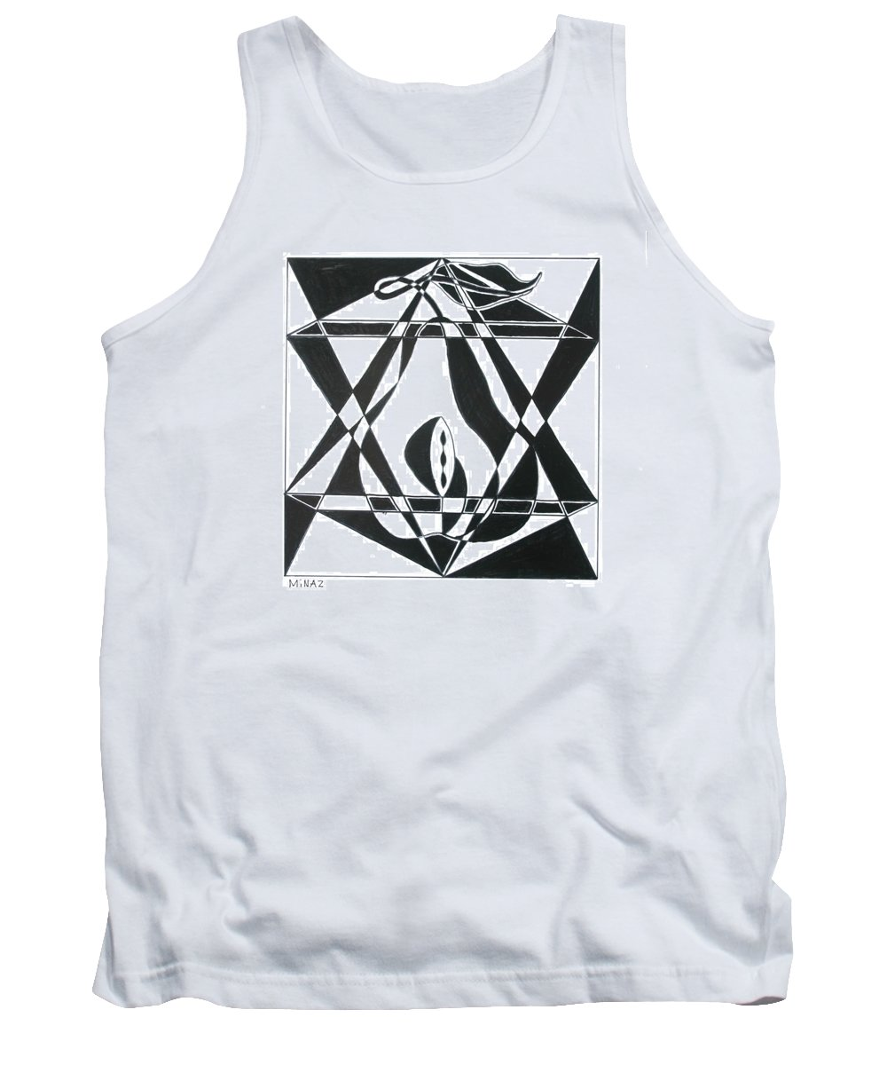 Pear Tank Top featuring the painting Pear Square by Minaz Jantz