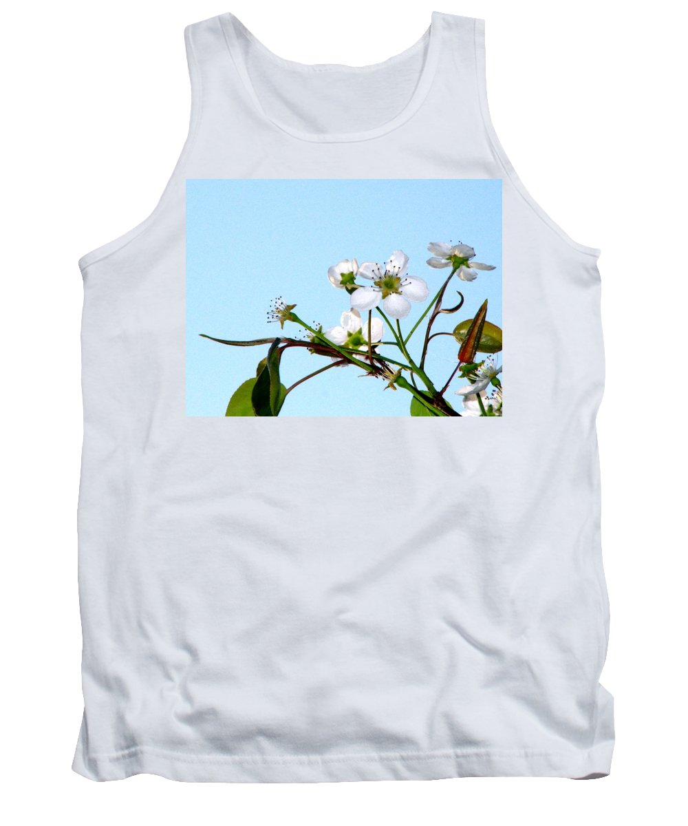 Pear Tree Blossum Tank Top featuring the photograph Pear Tree Blossoms 4 by J M Farris Photography