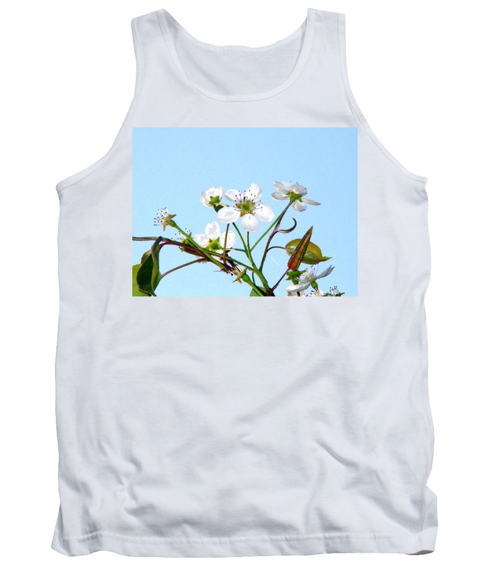 Pear Tree Blossum Tank Top featuring the photograph Pear Tree Blossoms 6 by J M Farris Photography