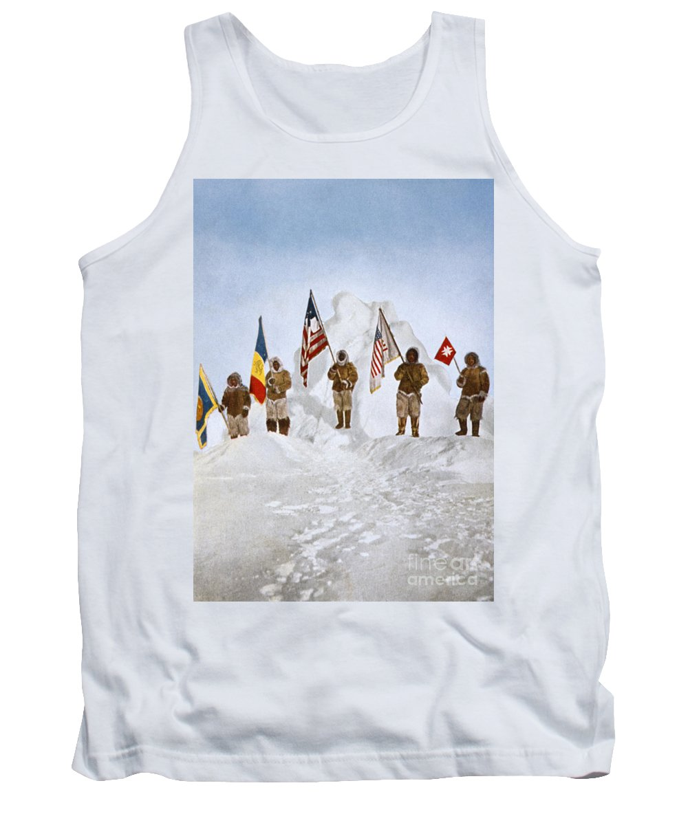 1906 Tank Top featuring the painting Peary Expedition, 1906 by Granger