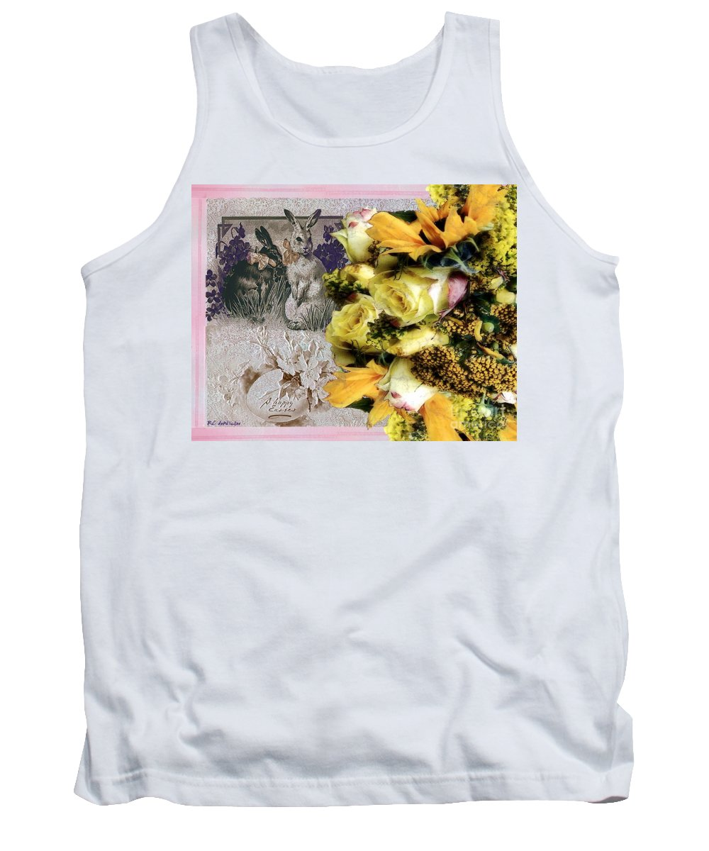 Bouquet Tank Top featuring the painting Penny Postcard Easter by RC DeWinter