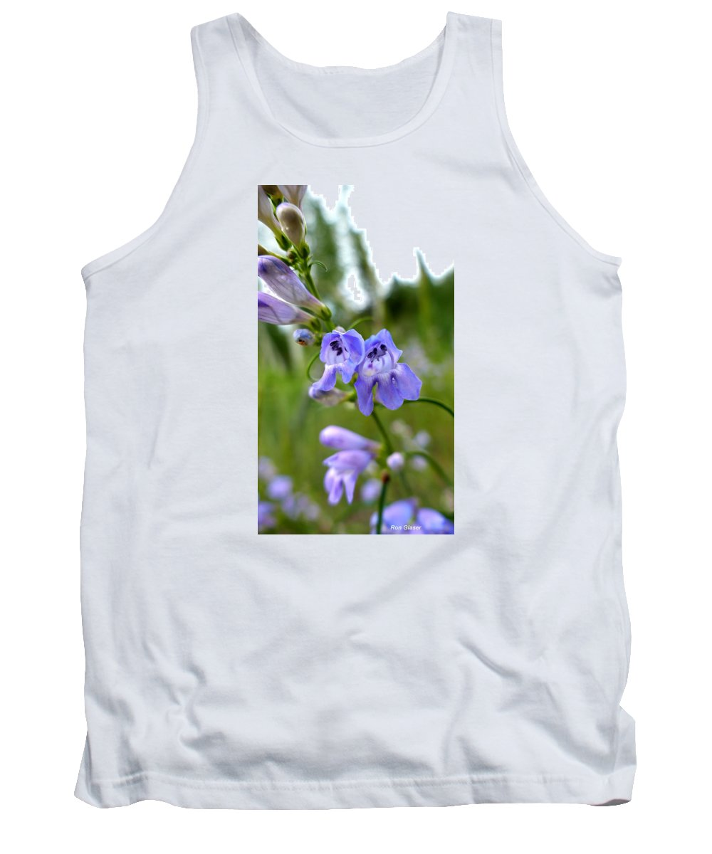 Ron Glaser Tank Top featuring the photograph Penstemon 1 by Ron Glaser