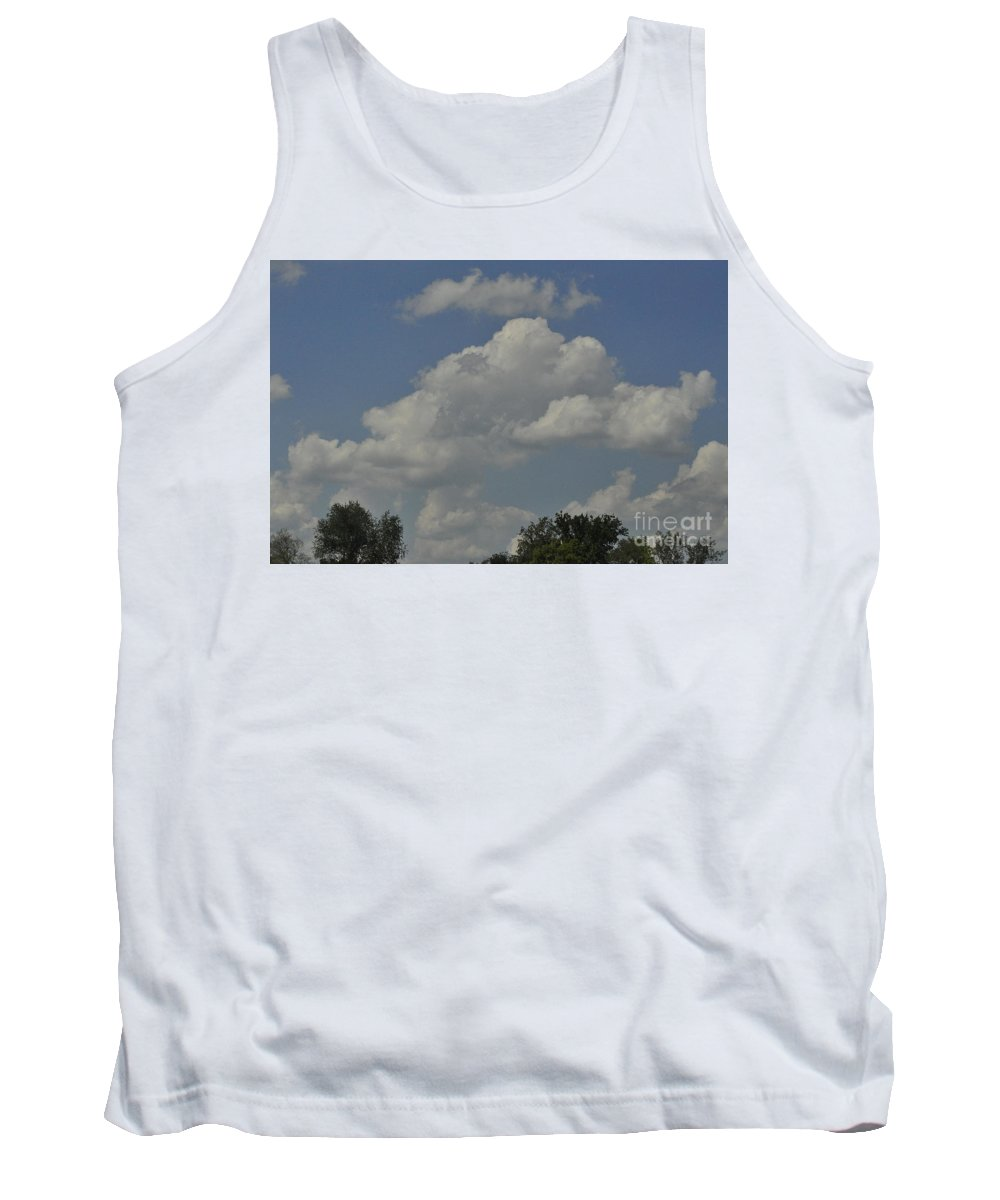 Sky Tank Top featuring the photograph Perfect Weather by Vicky Tubb
