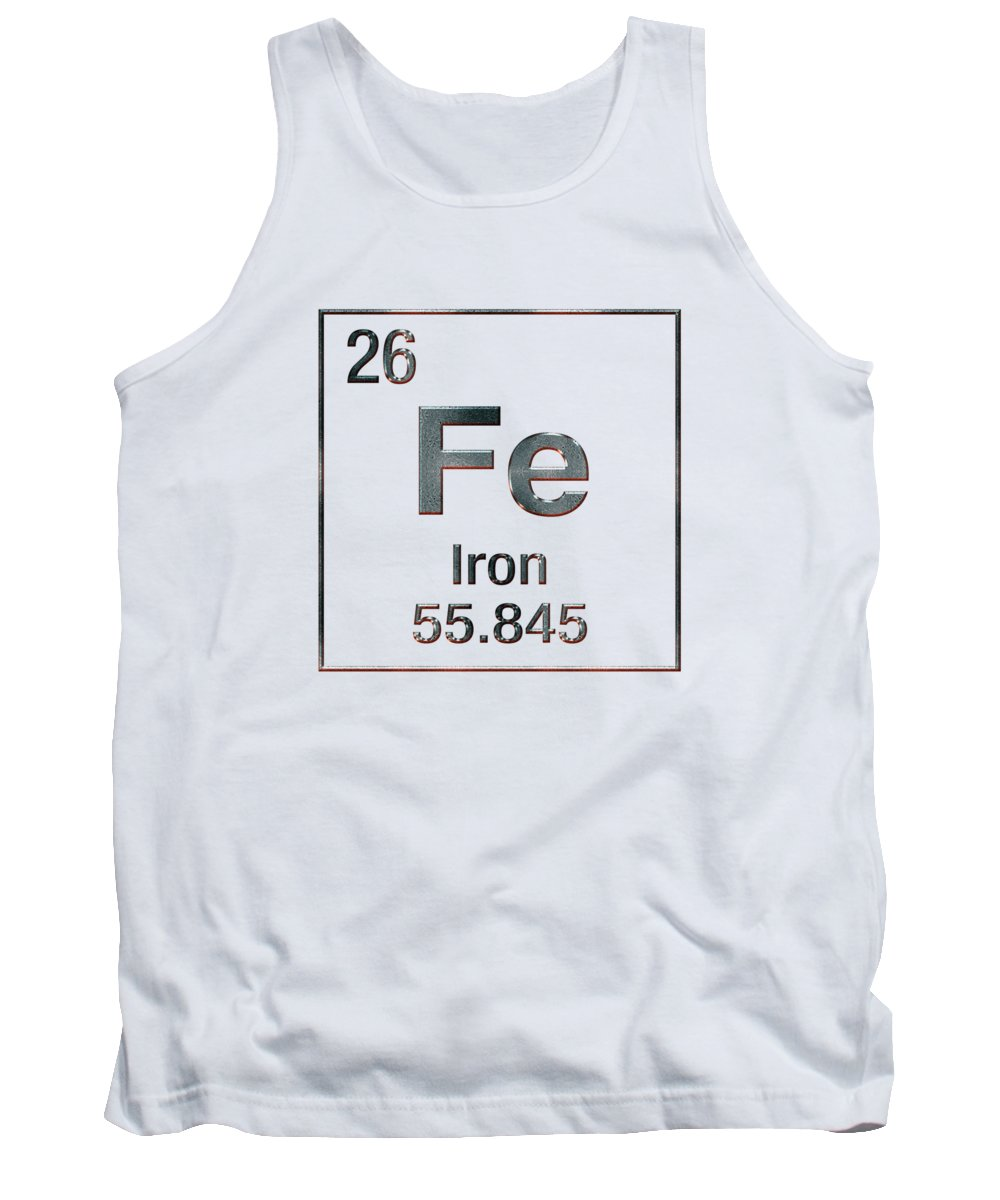 'the Elements' Collection By Serge Averbukh Tank Top featuring the digital art Periodic Table Of Elements - Iron Fe by Serge Averbukh