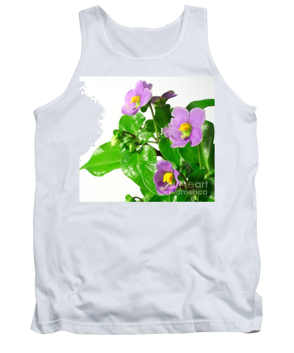 Closeup Tank Top featuring the photograph Persian Violets by Gaspar Avila