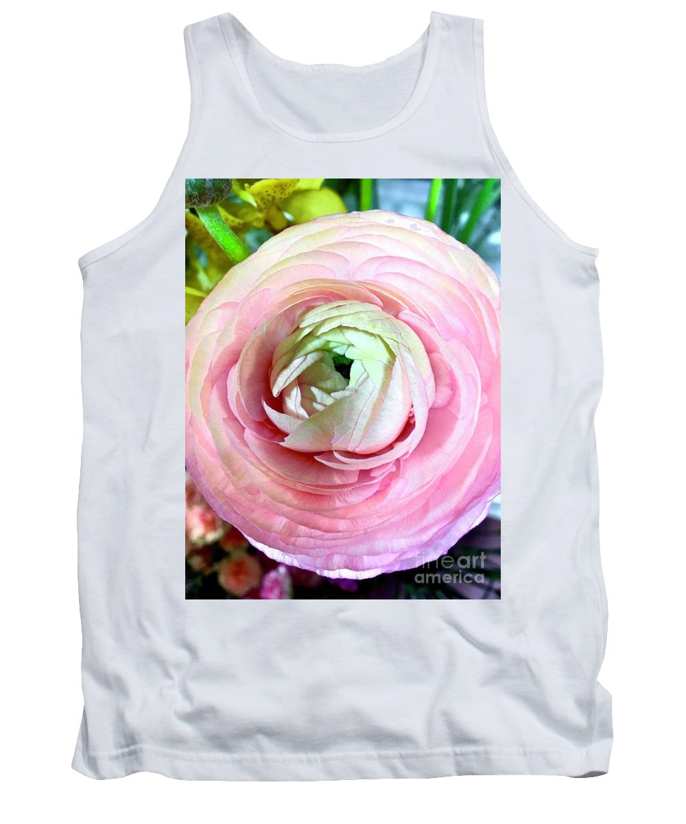 Petal Tank Top featuring the photograph Flower, Petal Labyrinth by Anna Holstedt