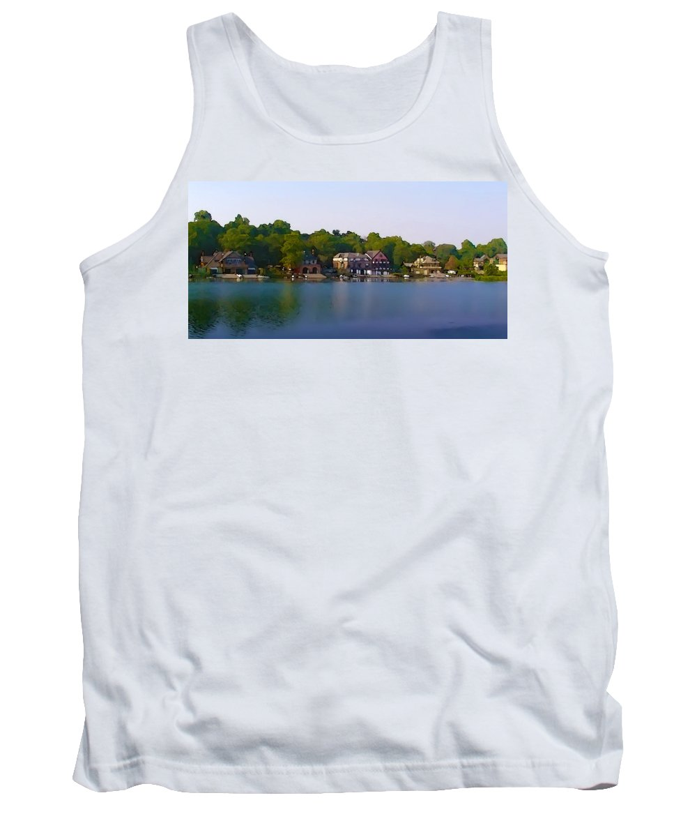 Philadelphia Tank Top featuring the photograph Philadelphia Boat House Row by Bill Cannon