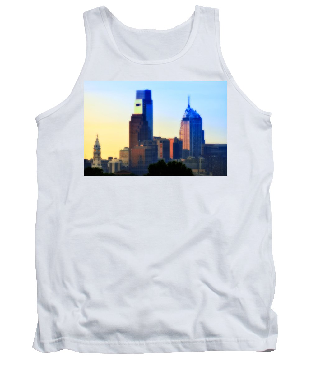 Philadelphia Tank Top featuring the photograph Philly Morning by Bill Cannon